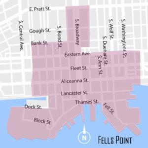 Fells Point Neighborhood Map