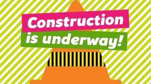 Construction is underway